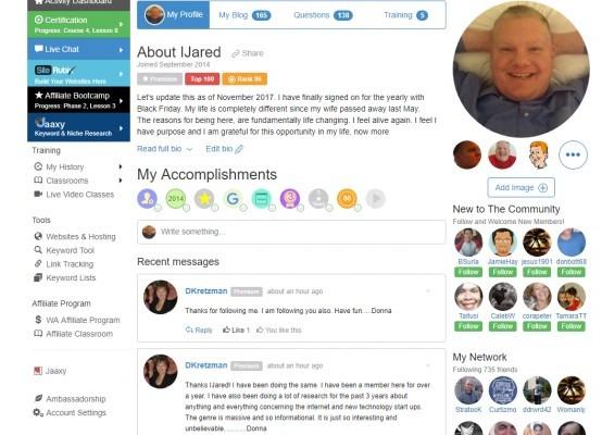 iJared Wealthy Affiliate Profile